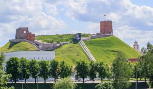 Вид на холм башни с подъёмником
