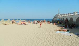 Рыбацкий пляж в посёлке