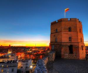 Вечерняя башня Гедиминаса