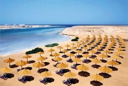 Полоса пляжных шезлонгов