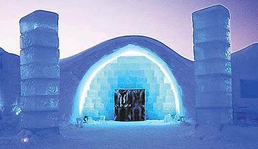Самый холодный отель в мире Ice Hotel