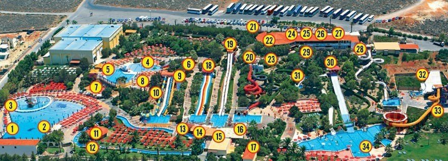"Карта аквапарка ""Water City"""