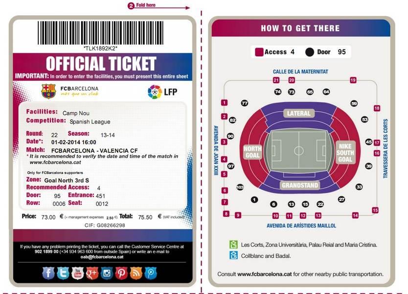 Билеты на футбол в Барселоне