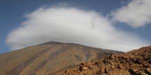 Облако вокруг пика вулкана
