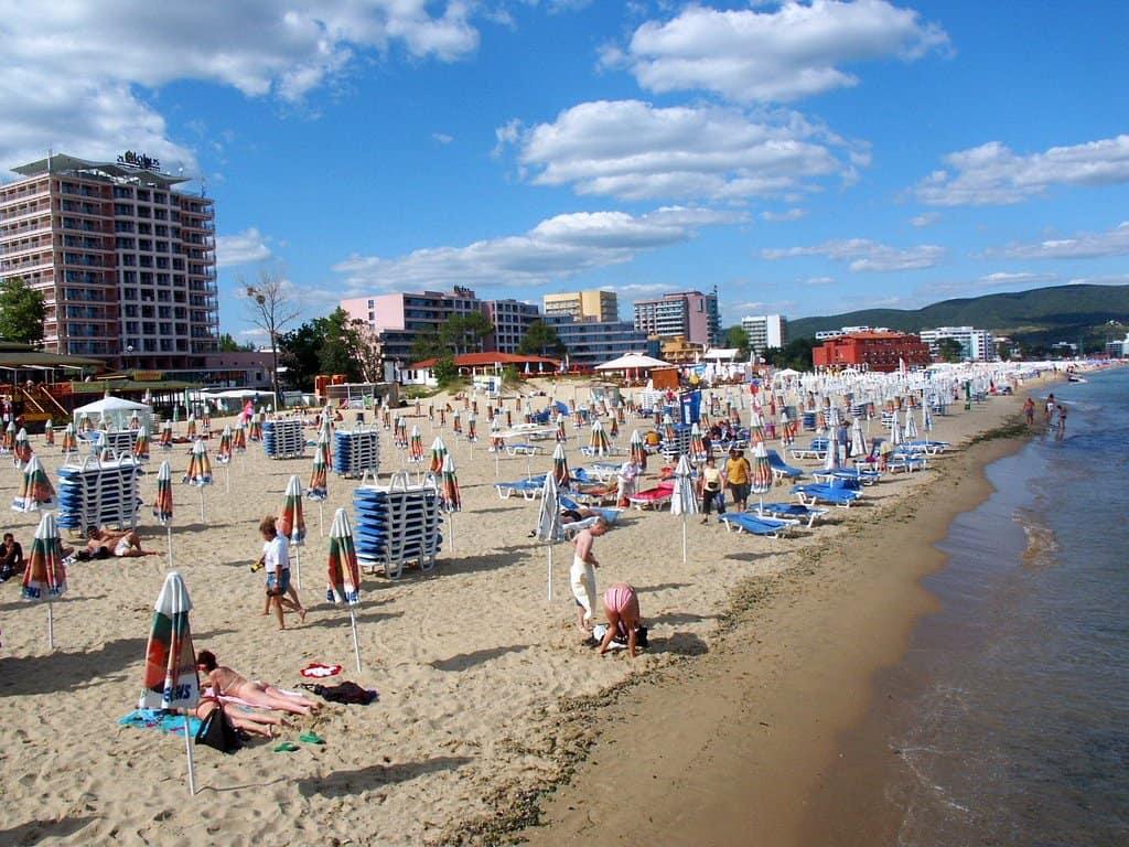 Пляж Солнечного берега, Болгария