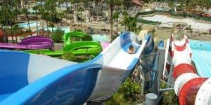 Вид на Адехе с горок аквапарка