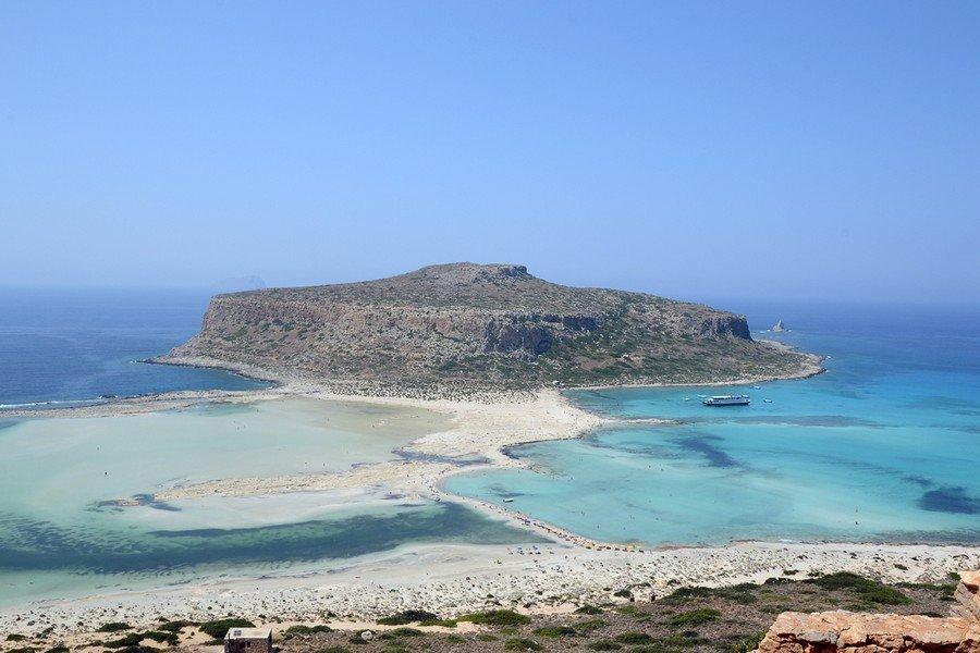 остров Грамвуса, пляж Балос на Крите