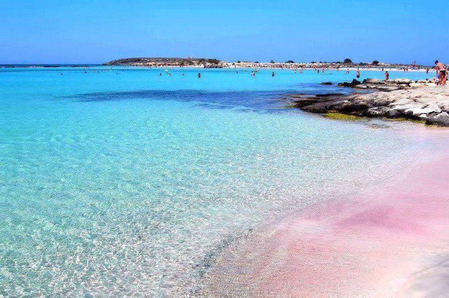 Пляж Элафониси c розовым песком