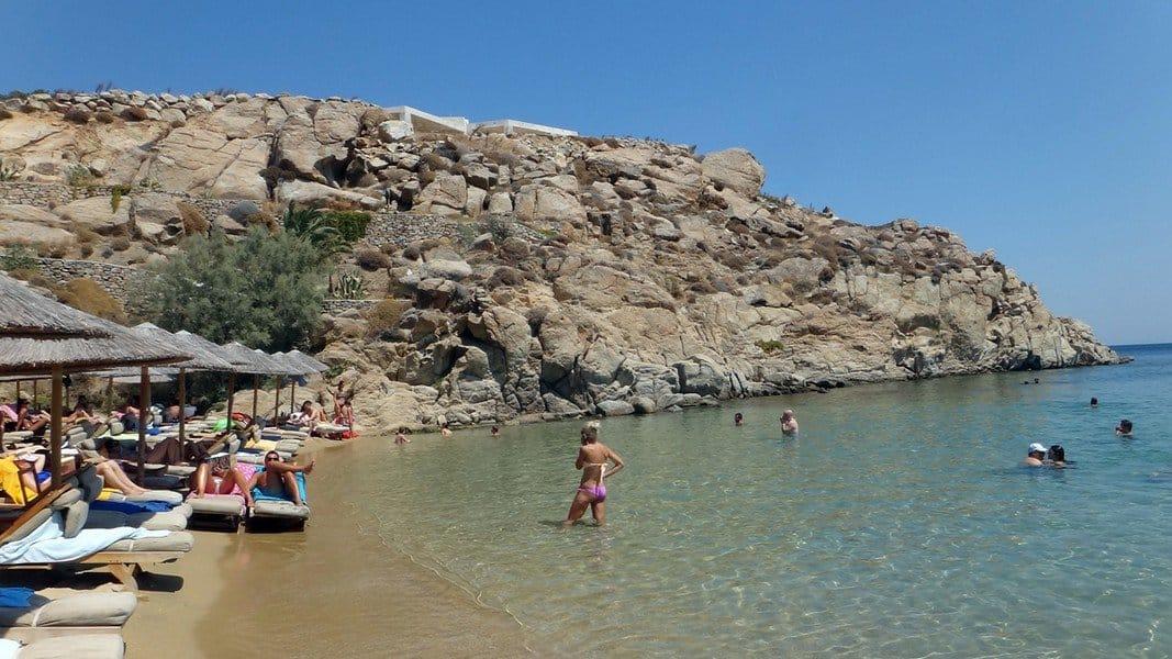 Пляж острова Миконос