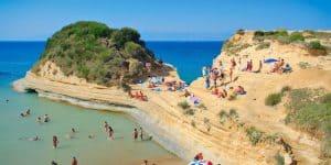 Пляж курорта Глифада - Корфу