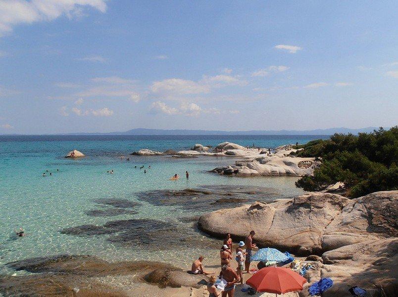 Пляж Кавуротрипес Халкидики