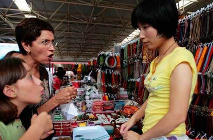 Процесс торговли на базаре
