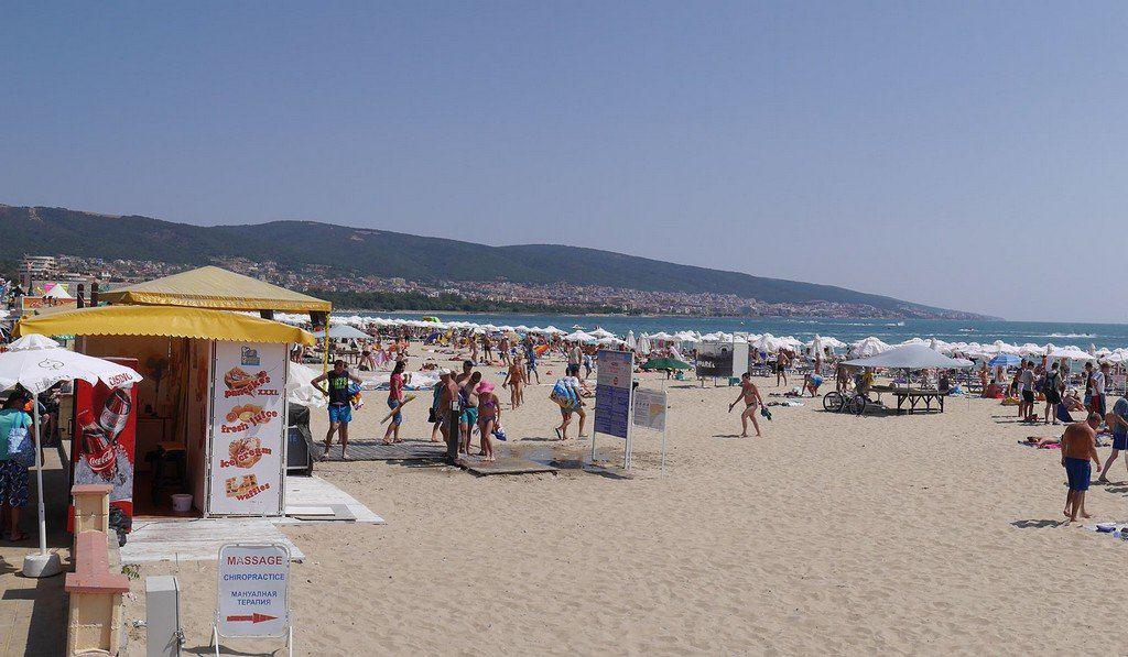 Пляж в Солнечный берег
