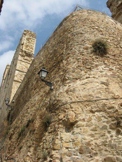 Сохранившиеся стены дворца