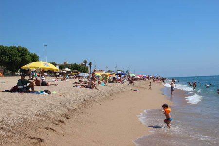 Пляж в Пинеда да мар