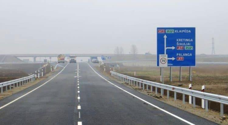 Дорожная развязка на Палангу перед Клайпедой