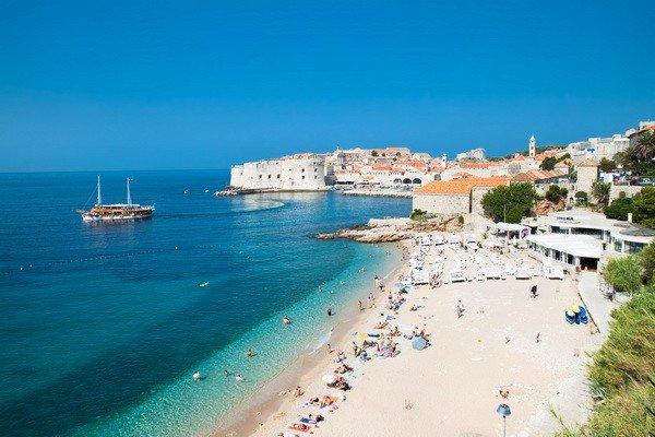 Пляжная зона в Дубровнике