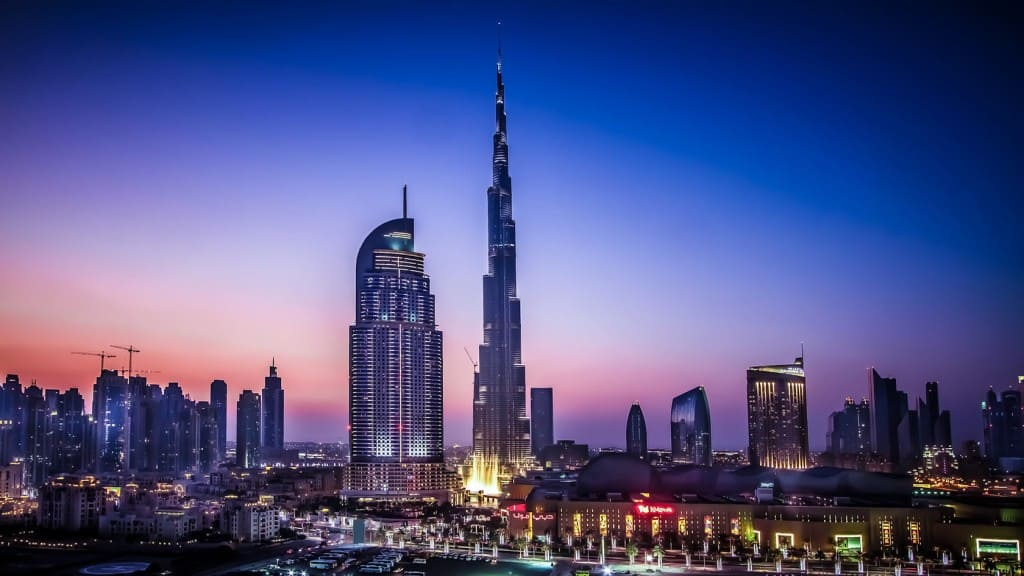 Вечерний Дубай
