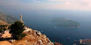 Вид на остров Локрум, Дубровник