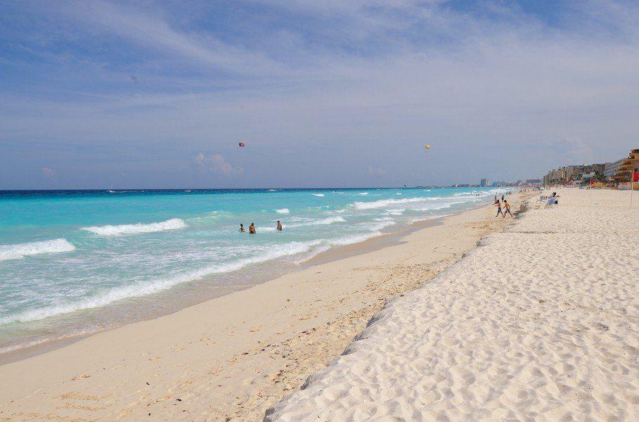 Пляж в Канкун