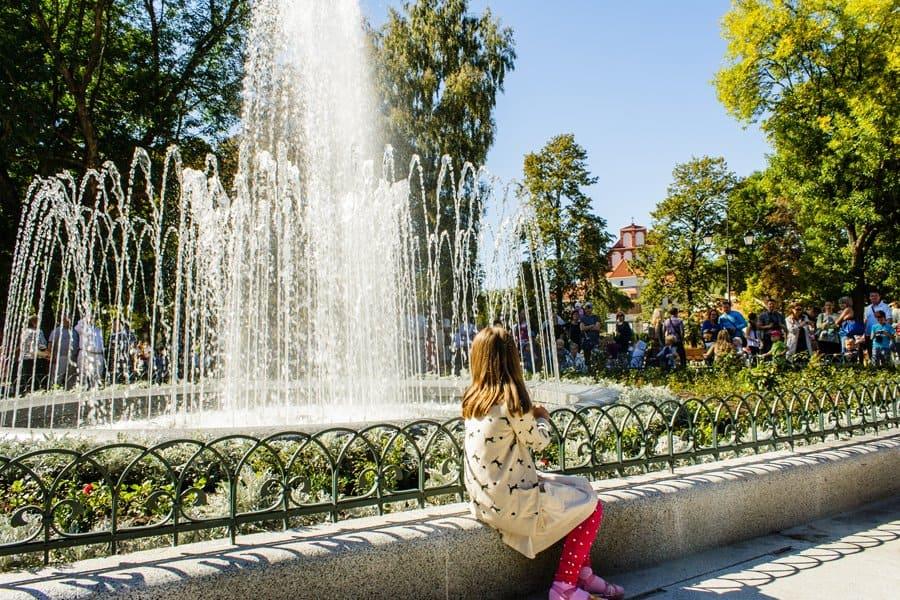 Бернардинский сад в центре города