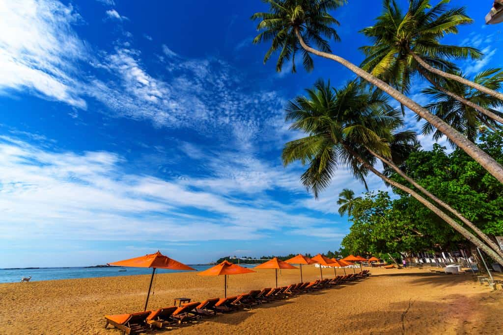 Пляж Унаватуна в Шри Ланке