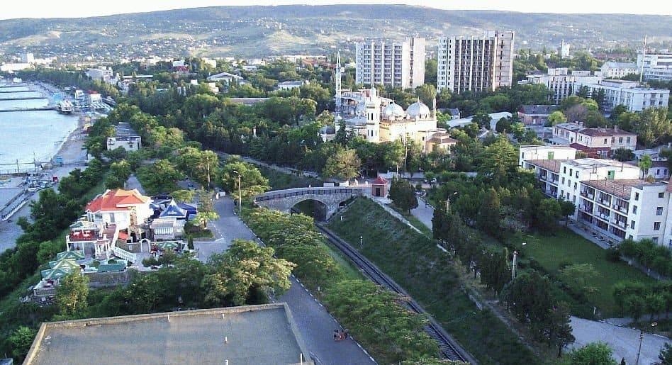 Вид на курорт с высоты