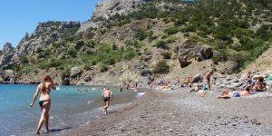 Мелко-галечный пляж