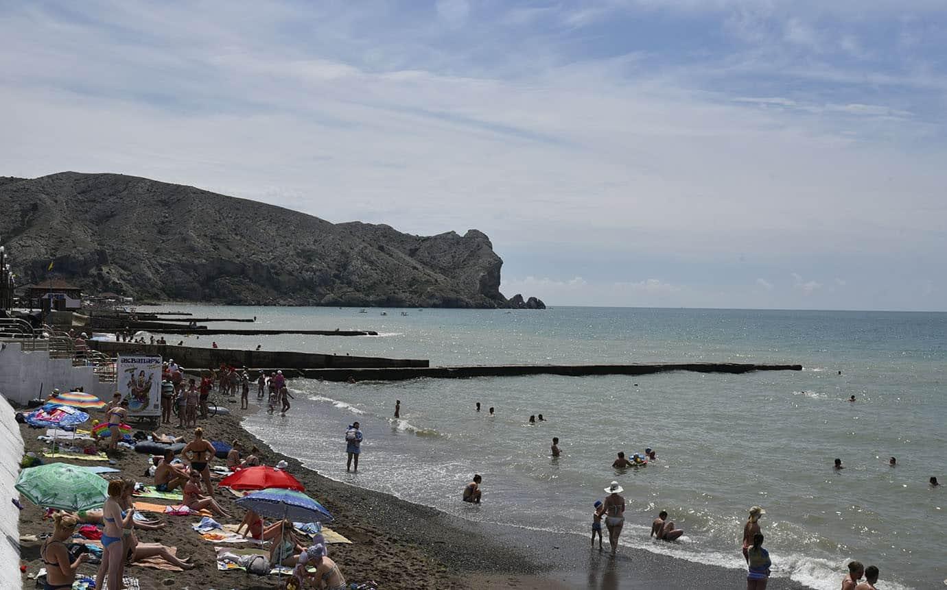 Отдых в судаке пляж фото