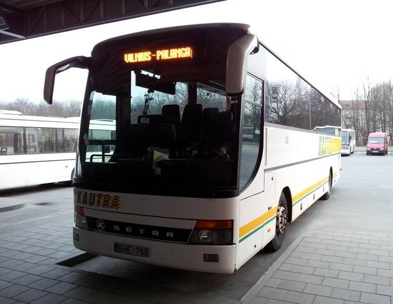 Автобус Вильнюс-Паланга