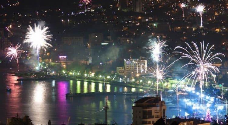 Новогодний салют в Ялте