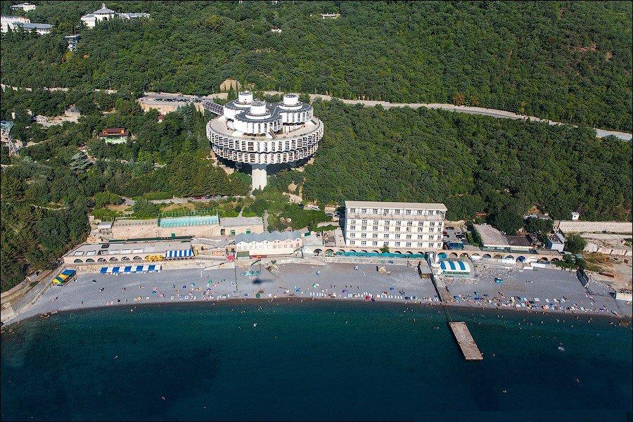 Южный берег Крыма с вертолета