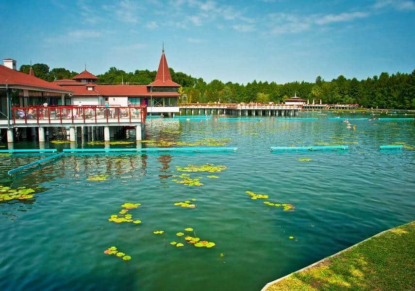 Озеро Хевиз летом