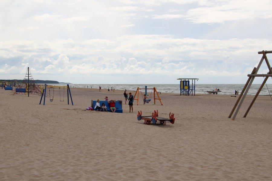 Пляж в Венспилсе