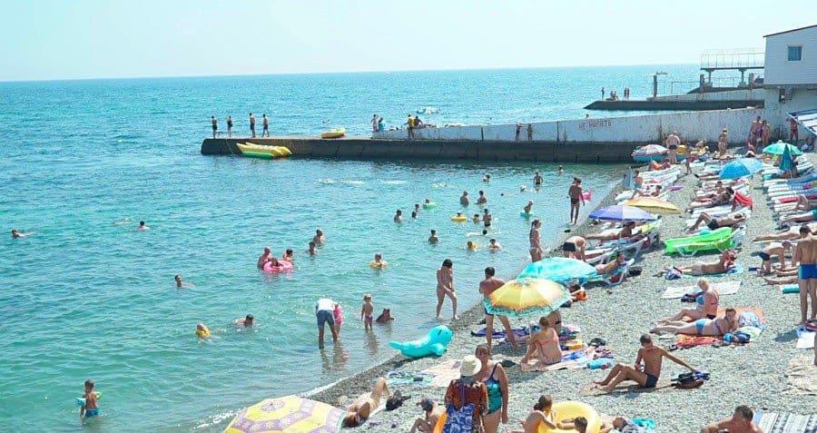Пляж Алушты