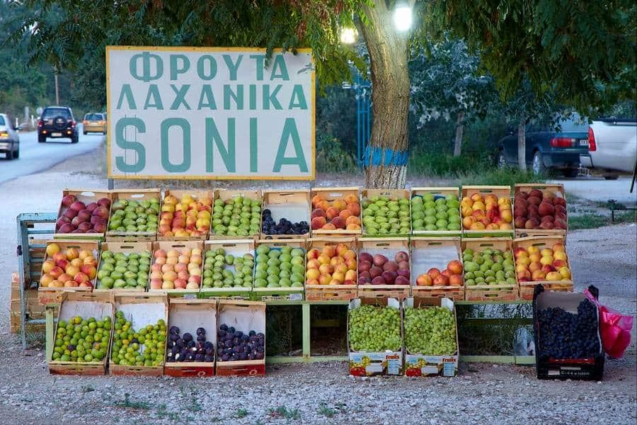 Фруктовая лавка в Греции