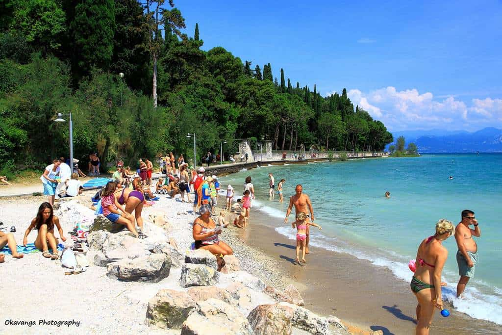 Пляжи на озере Гарда