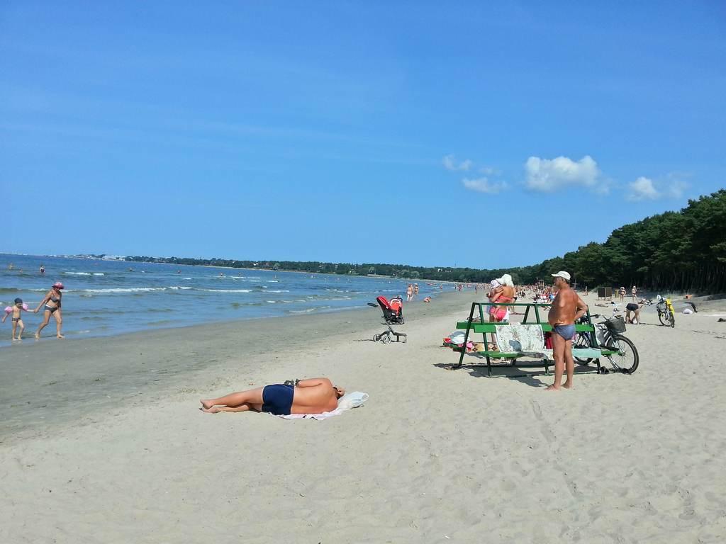 Пляж Pirita в Таллин