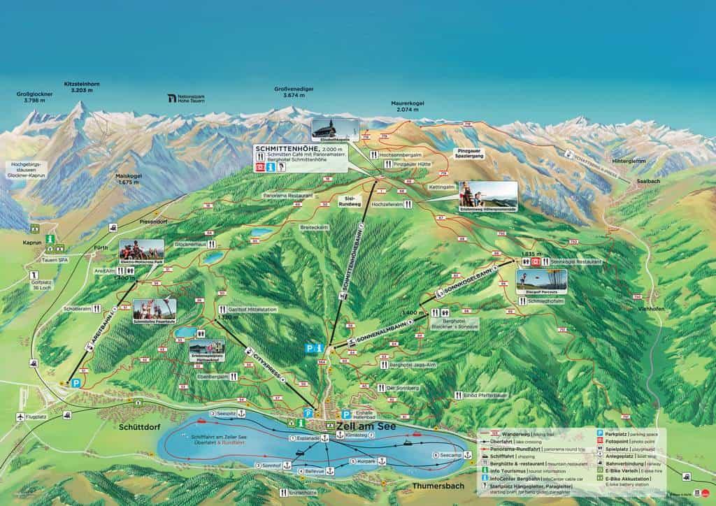 Карта маршрутов по горе Шмиттен