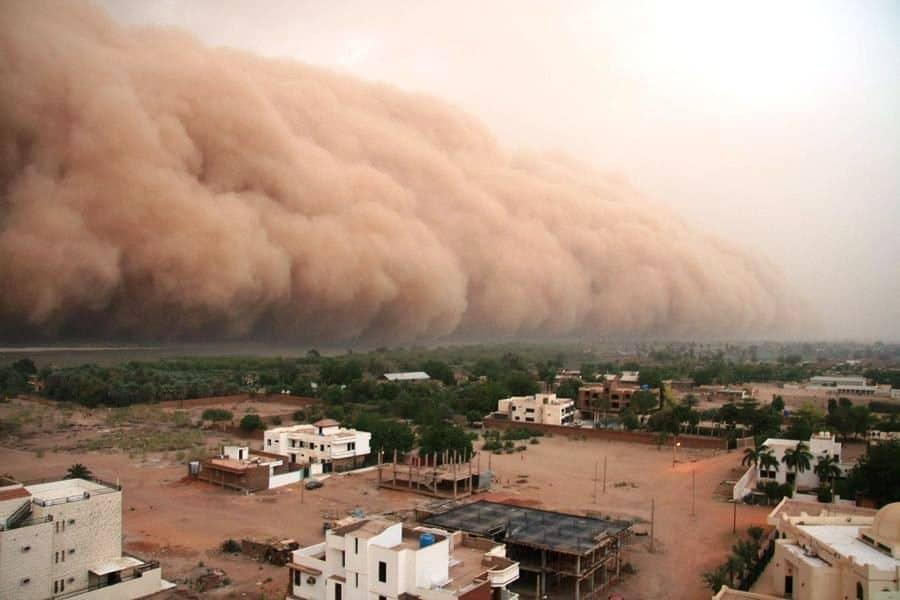Песчаная буря в Египте