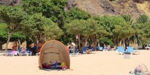 Палатки от ветра на пляже