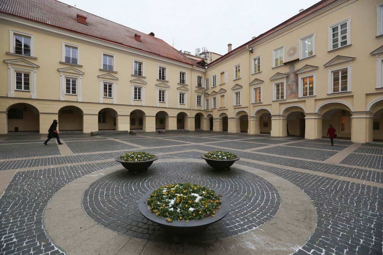 Двор Вильнюского университета