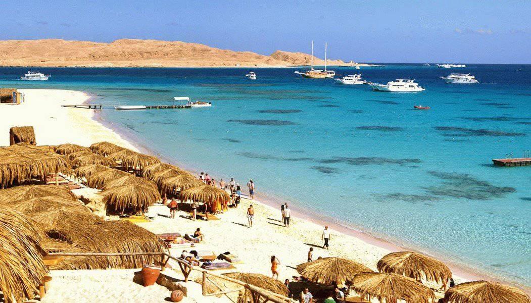 Пляж Египта зимой