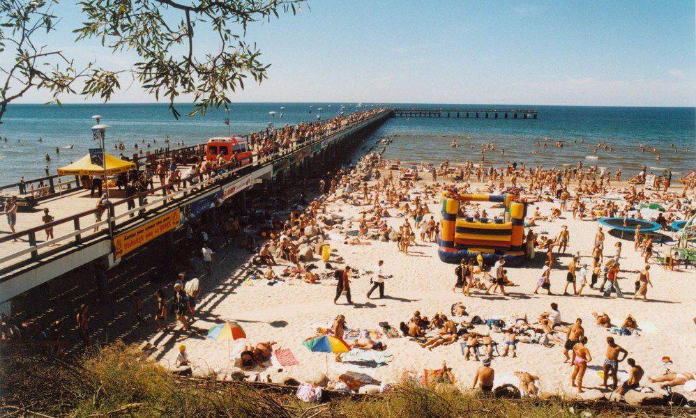 Пляж Паланги в разгар сезона