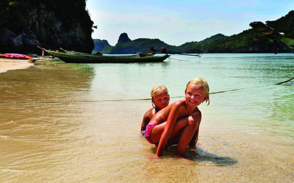С детьми в Тайланде в декабре