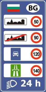 Правила дорожного движения и ограничения скорости в Болгарии