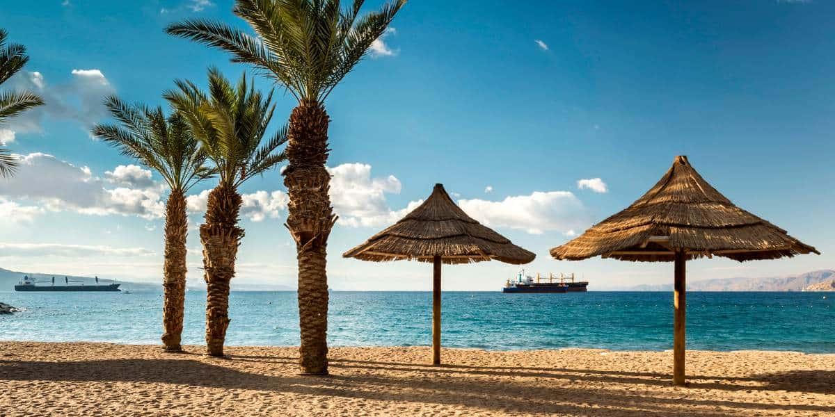 Пляж в Эйлате, Израиль