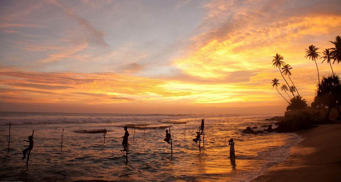 Шри Ланка пляж на закате