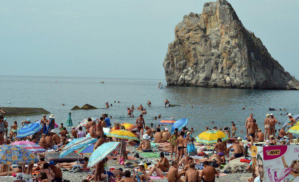 Пляж в Симеиз