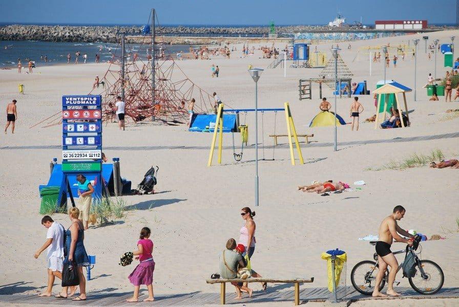 Пляж Вентспилса